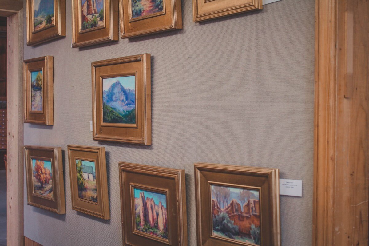 A wall of art in Farmington, New Mexico.