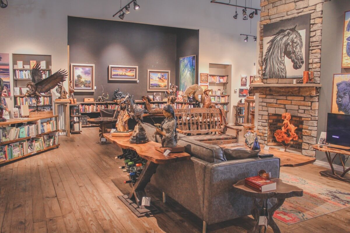 Inside of Anticus, a part gallery, part bookstore, and part jewellery stop in Scottsdale.