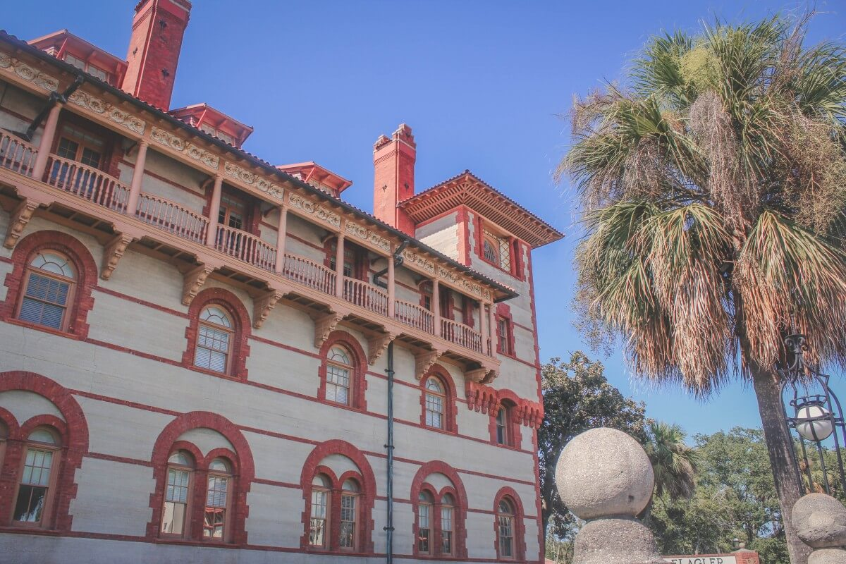 Spanish Renaissance revival style architecture of the Lightner Museum in St. Augustine