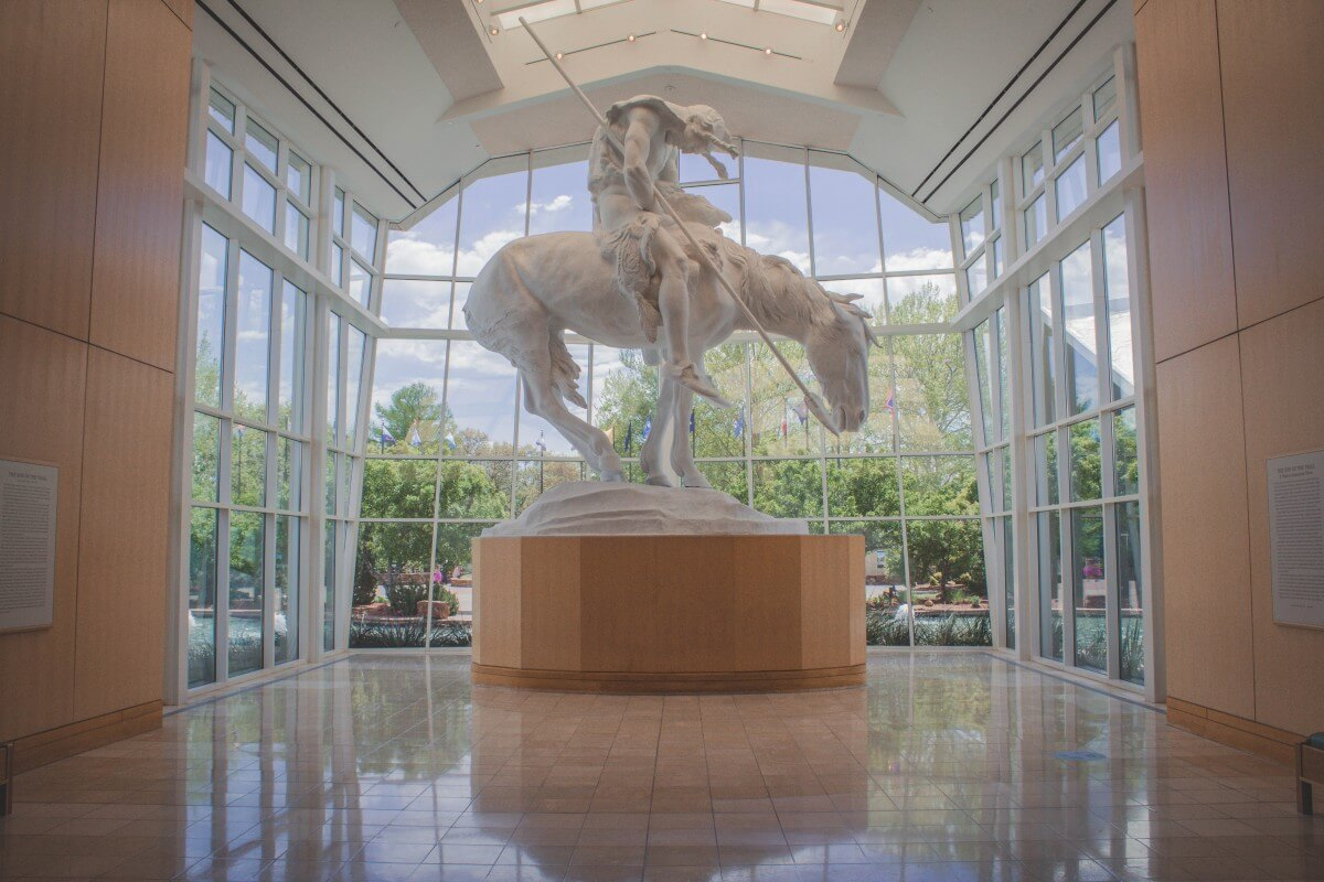 Cowboy Museum in Oklahoma City in Oklahoma entrance