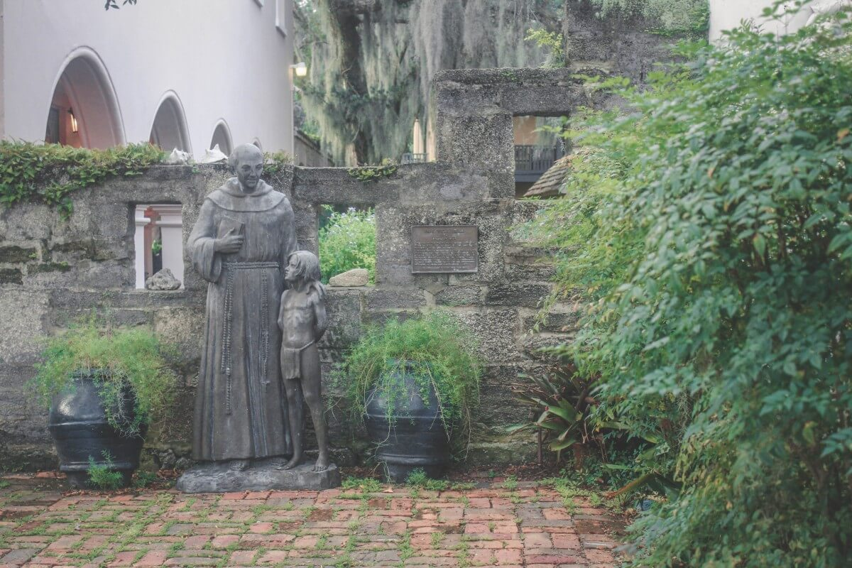 Courtyard of the Oldest House Museum in St. Augustine