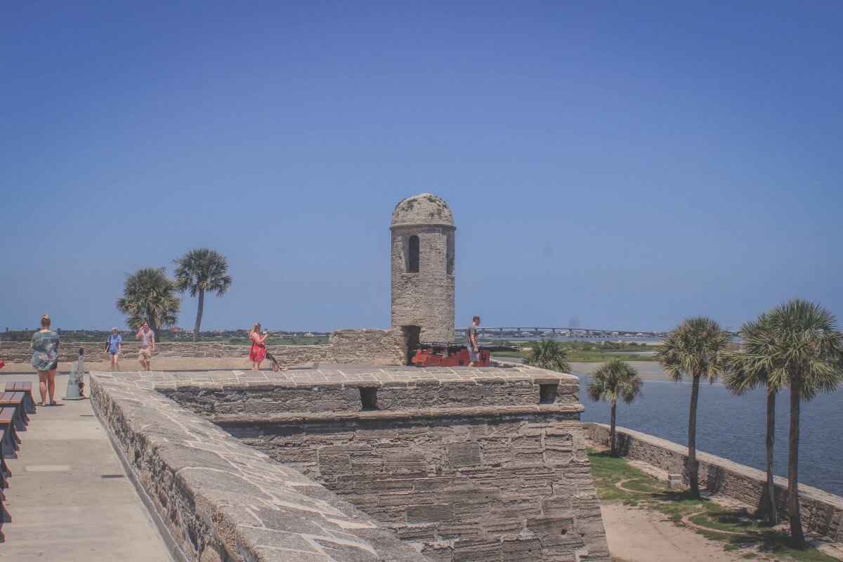 View from the top of Castillo De San Marcos Fort