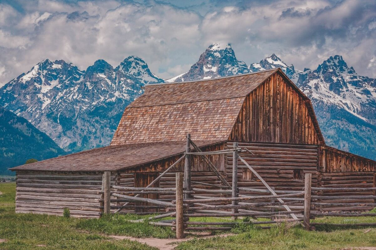 Iconic cabin in Wyoming, one of the top states to visit in the USA