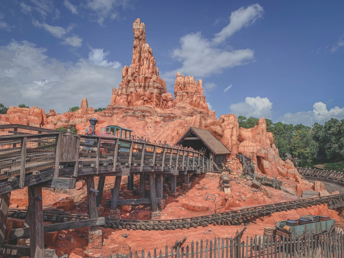 Roller coaster ride in Magic Kingdom
