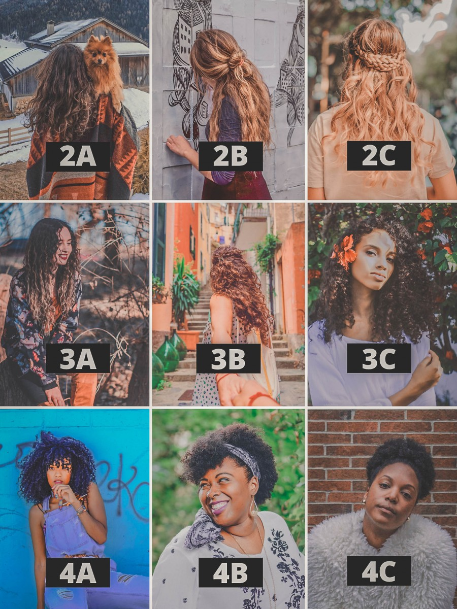 curly girl travel tips hair type identification infographic chart