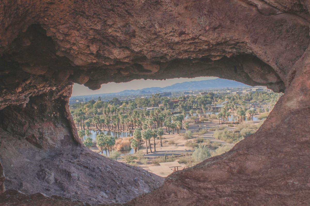 view from Hole In The Rock during my one day in Phoenix