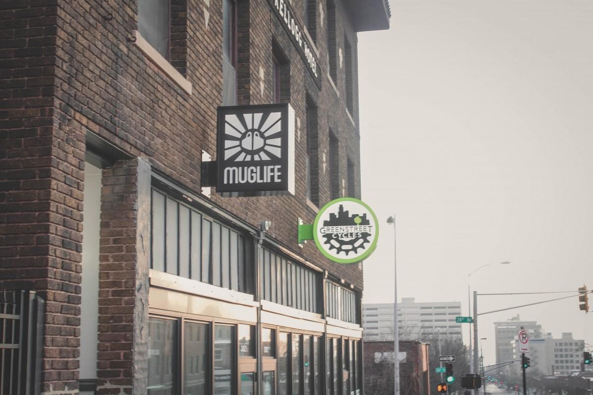 Mug Life Cafe Sign