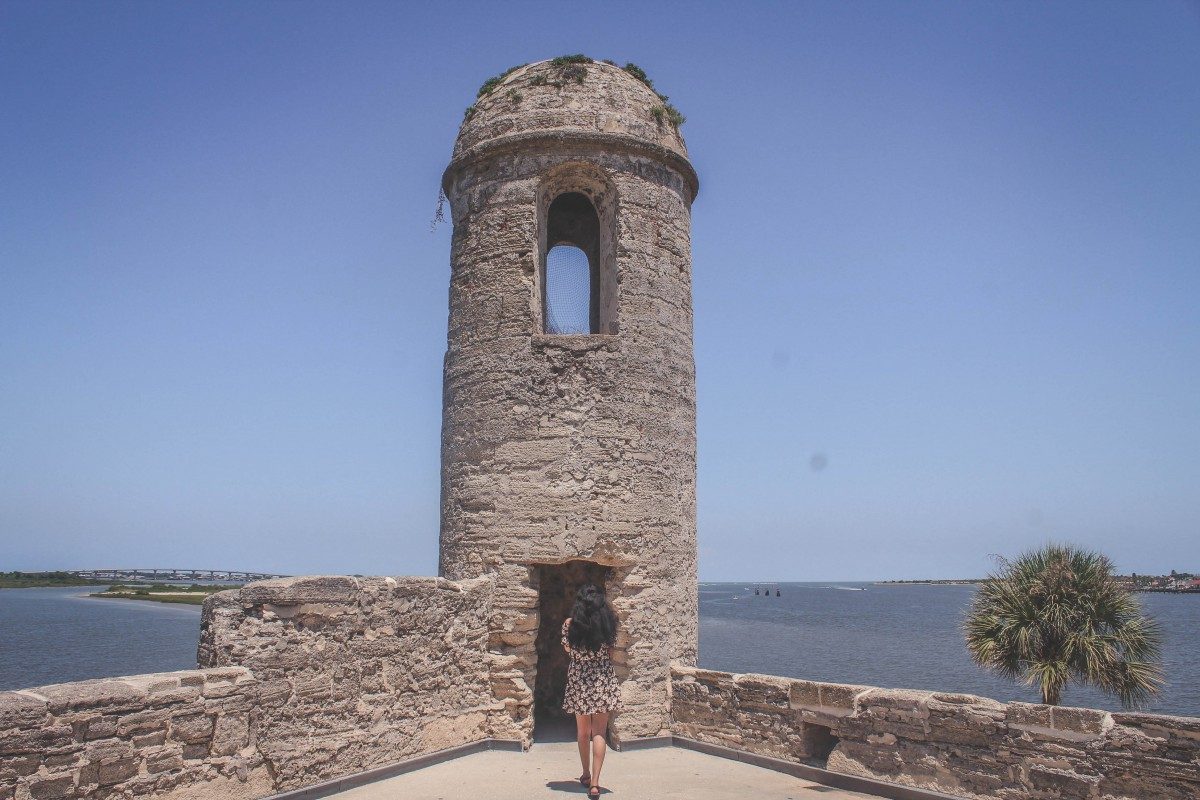 Coquina of Castillo De San Marcos facing the water