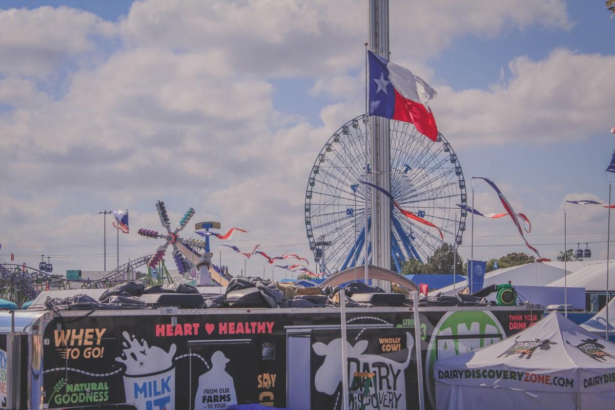 Fair Park In Dallas Carousel and rides