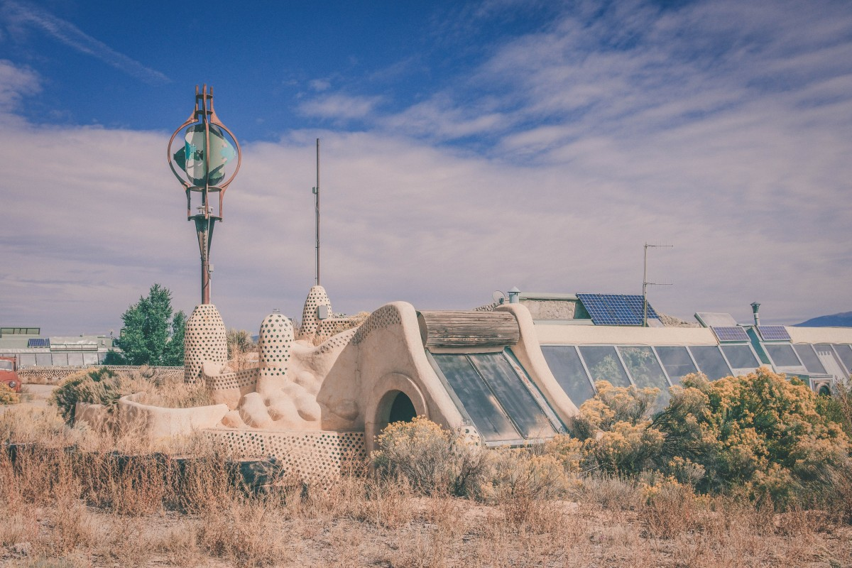 Earthship Biotecture one of the homes/visitor center