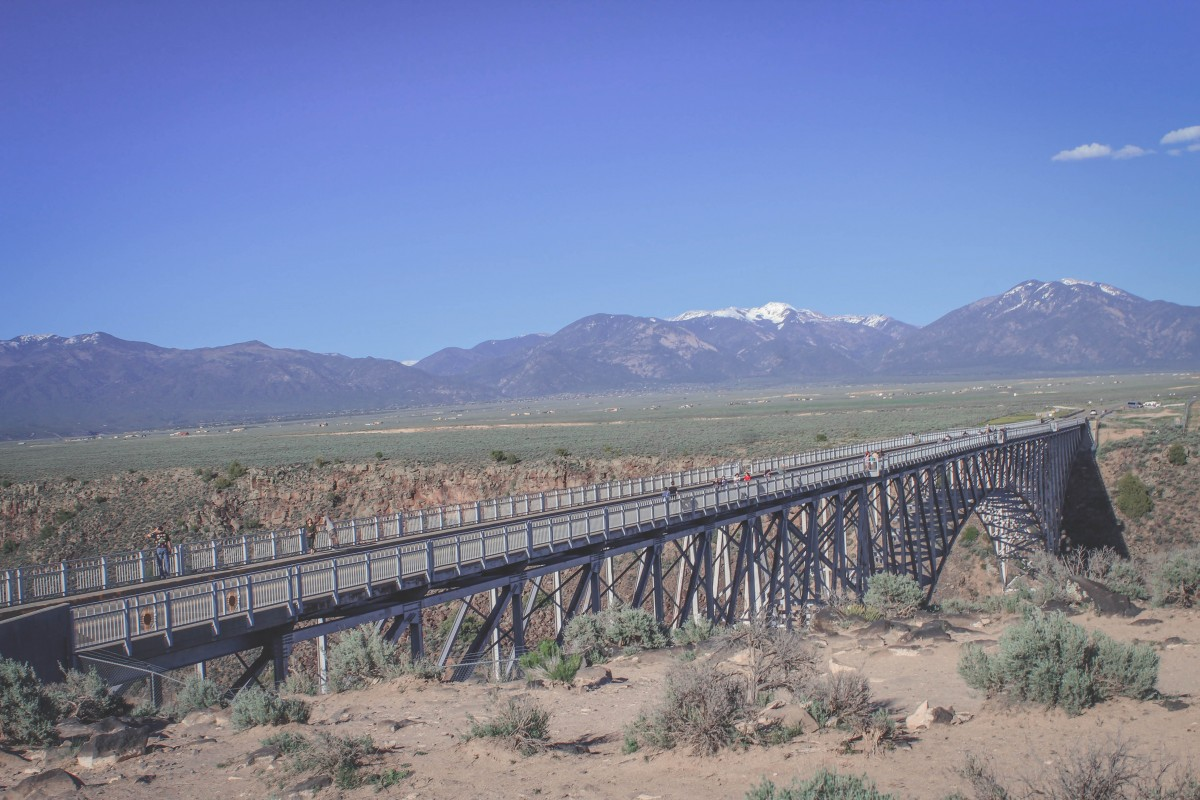 Full stretch of the Rio Grande Gorge Bridge