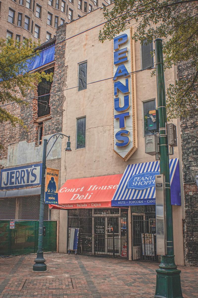 old peanut shop in Memphis