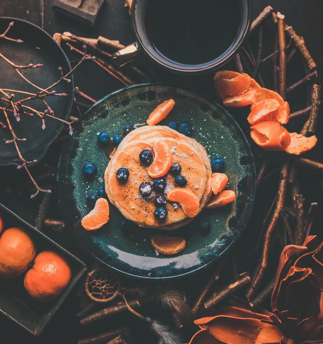 leftover orange peel pancakes