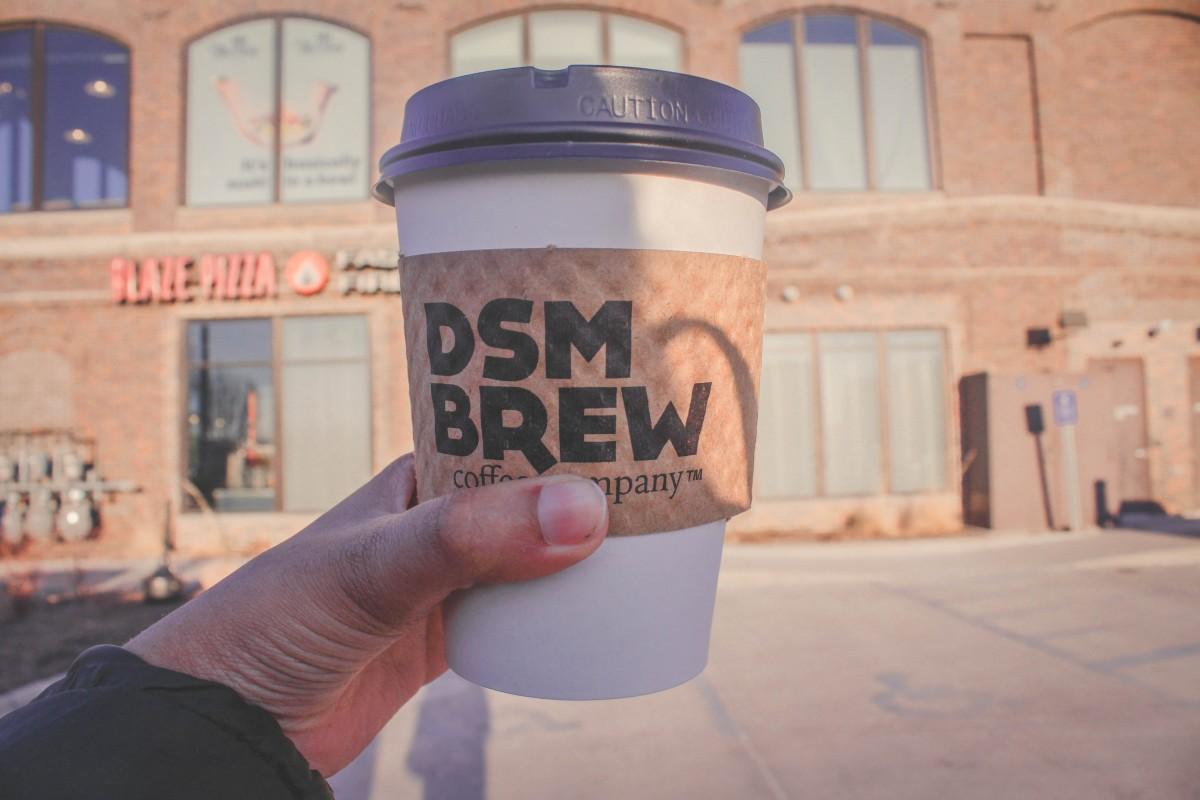 DSM Brew branding coffee cup