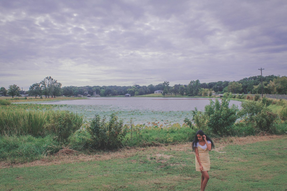 Things to do in East Texas: standing in front of Athens Lake