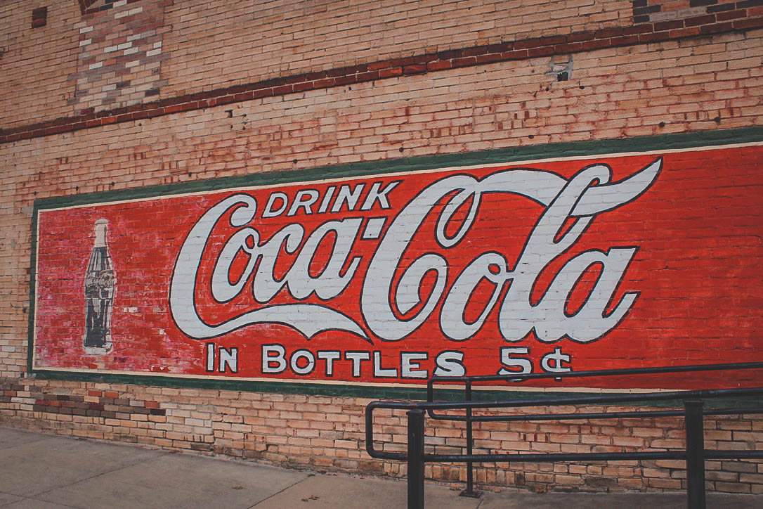 Things to do in East Texas: cute Coca Cola sign