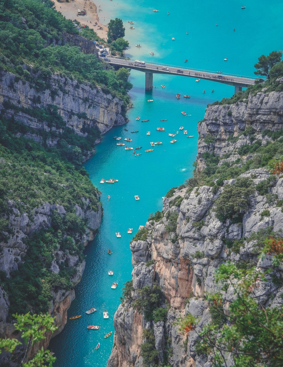 Gorges Du Verdon France view from up above