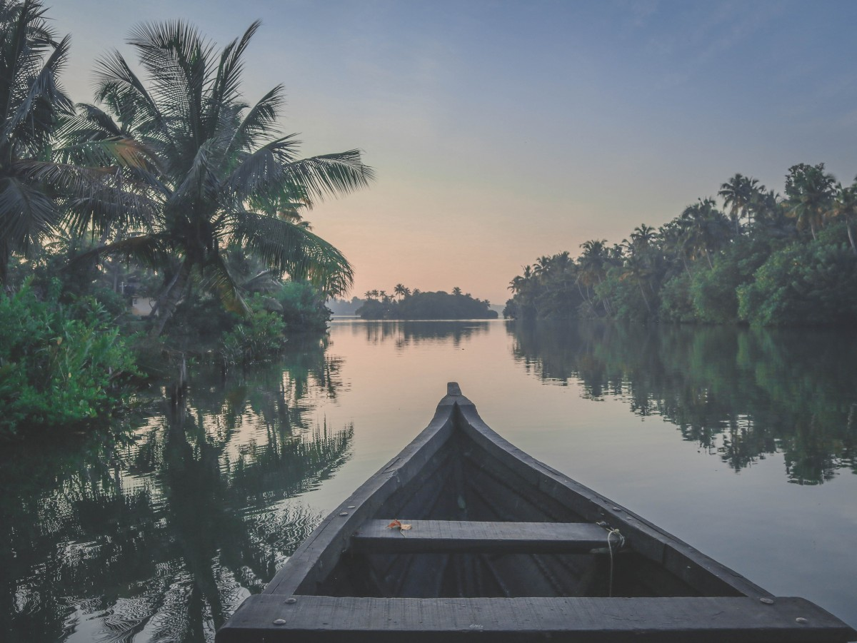Photo of Kerala's backwaters.