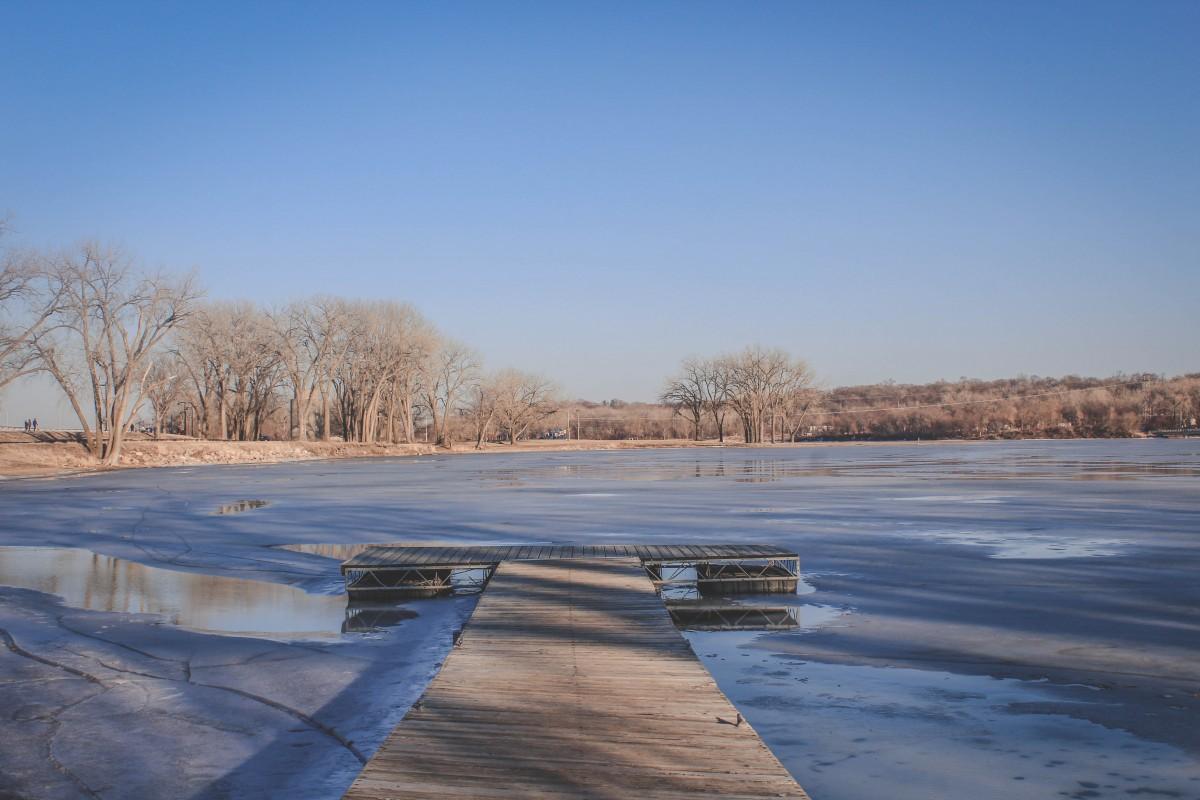 iconic Gray's Lake boardwalk