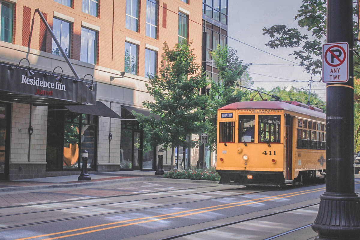 streetcar trolley in Little Rock