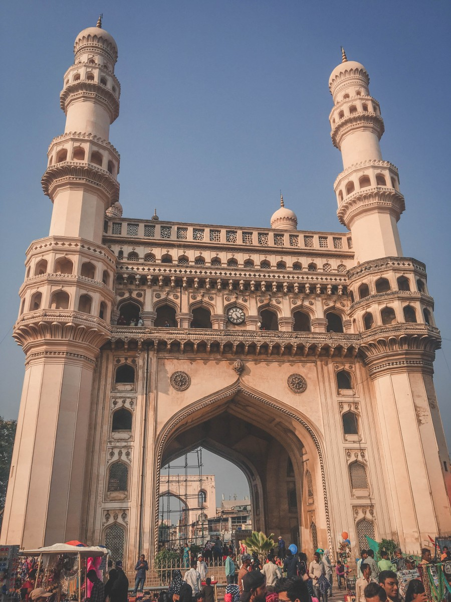 Vertical photo of Old City India architecture