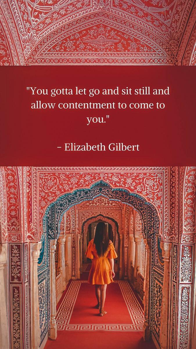 India - you gotta let go quote