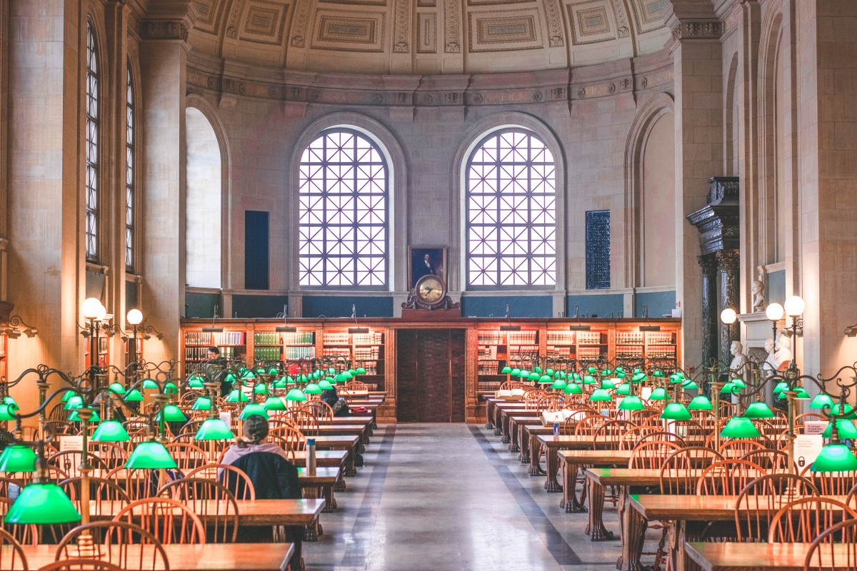 most beautiful libraries in the US: Bates Hall at the Boston Public Library