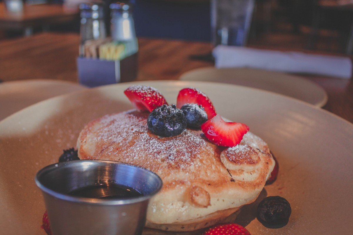 Lemon Ricotta pancakes from  Pacific Table, one of the best places to eat in Fort Worth.