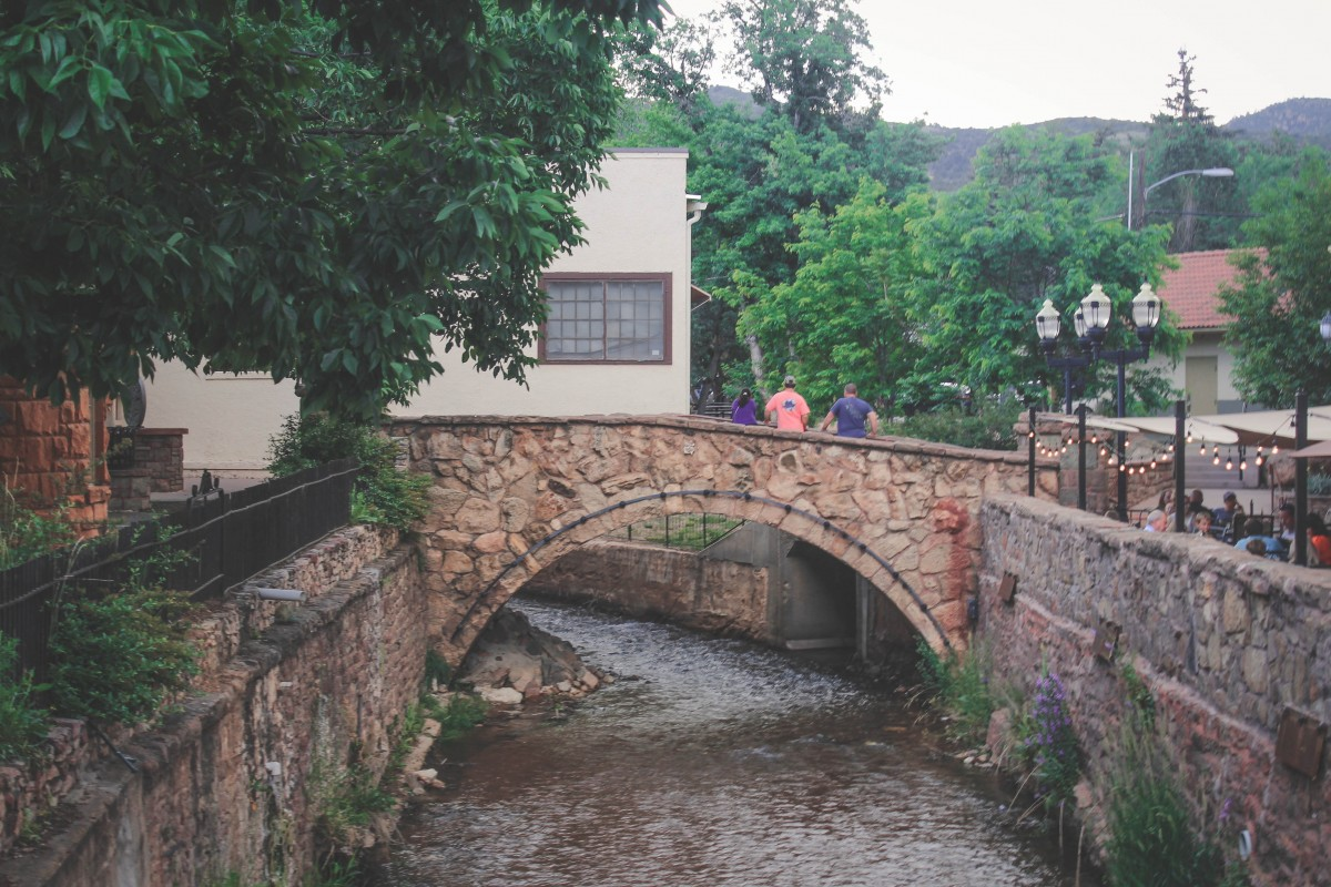 Historic District Manitou Springs Canal With Bridge