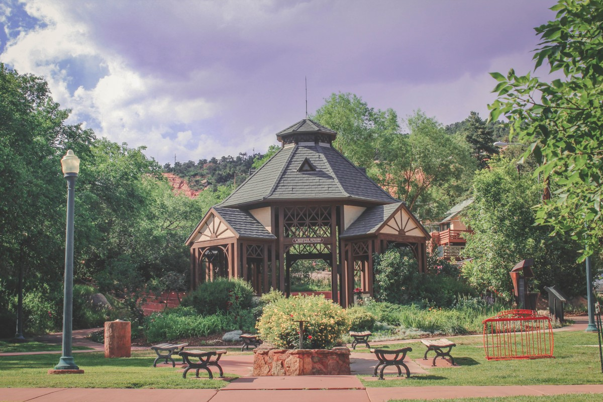 Seven Minute Spring In Manitou Springs Gazebo