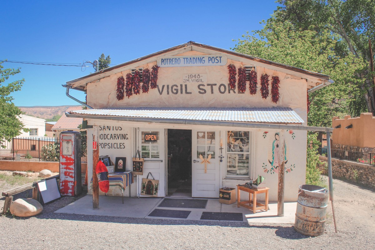 potrero trading post vigil store in Chimayo, New Mexico