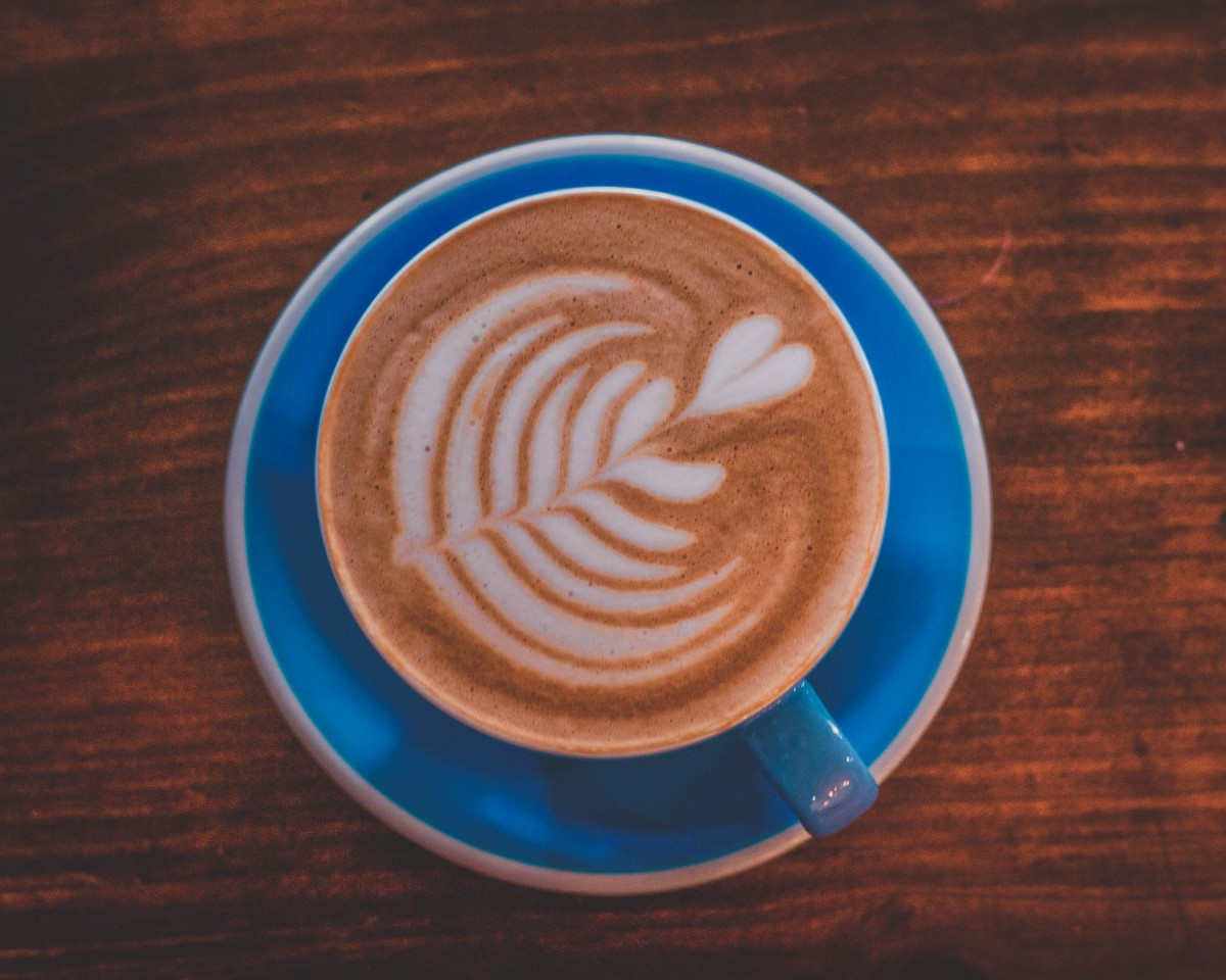 Coffee Shops In Waco - blue cup from Pinewood