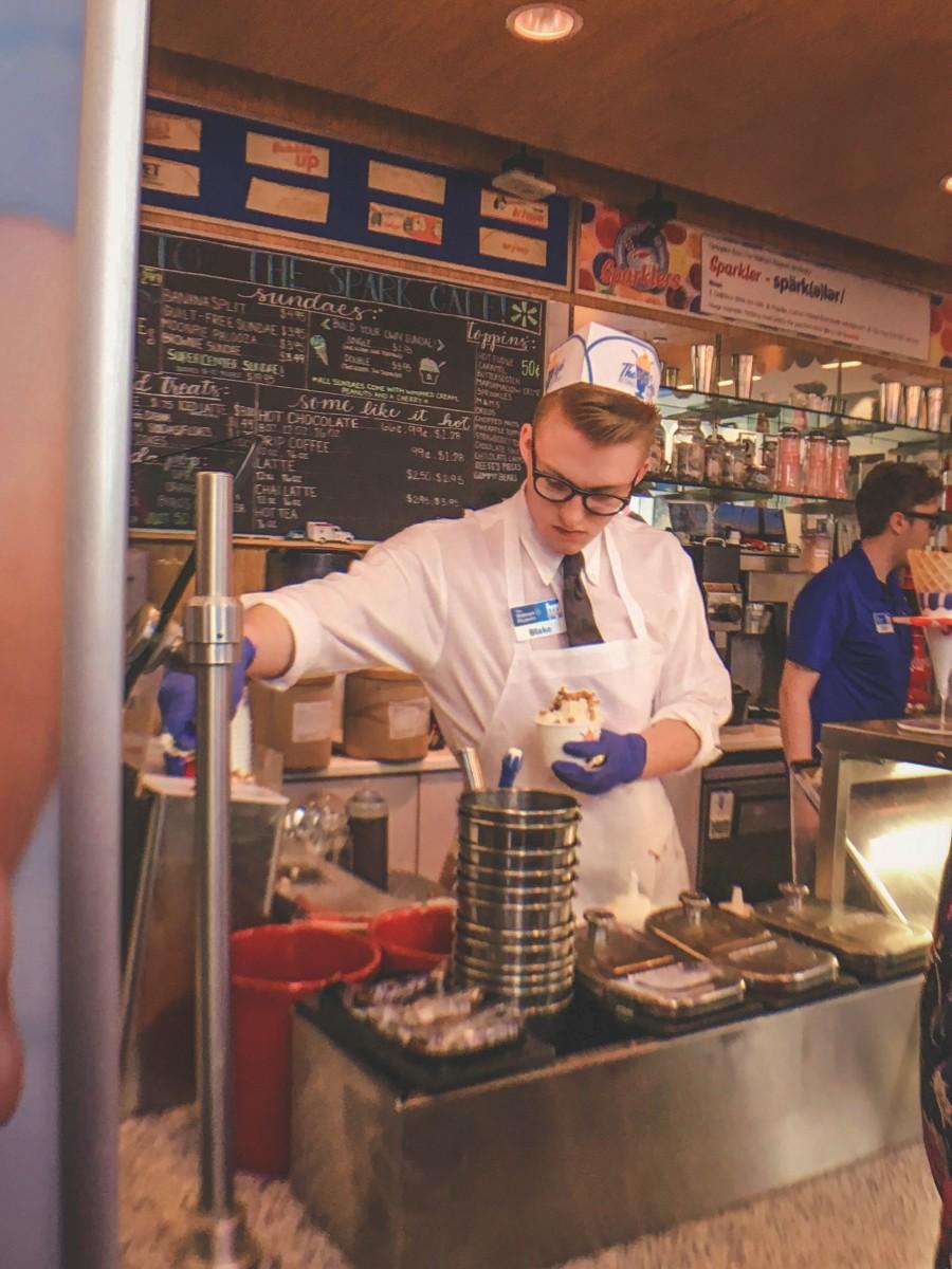 restaurants in bentonville: soda jerker at Spark Café and Soda Fountain