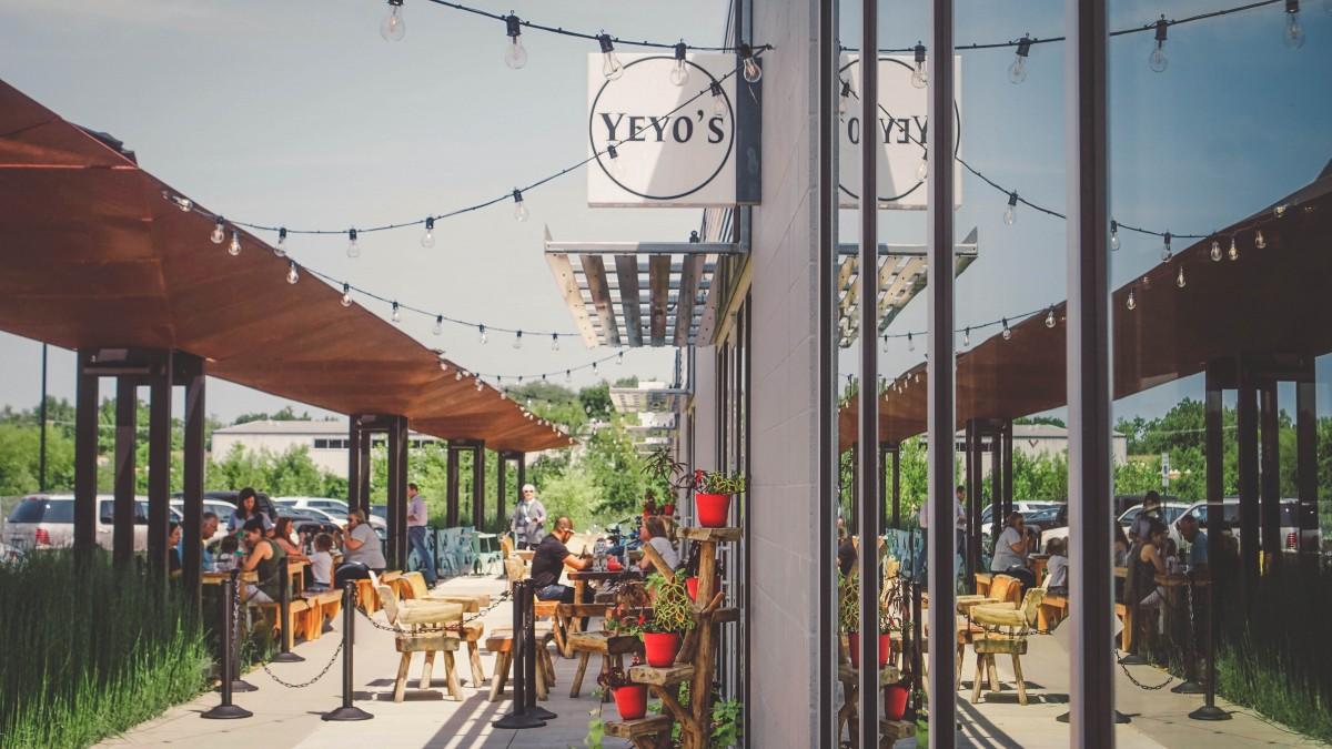 Patio of Yeyo's Mexican restaurants in Bentonville