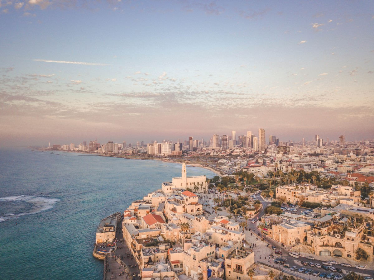 coast of Tel Aviv, Israel, home of pubs and bars and clubs