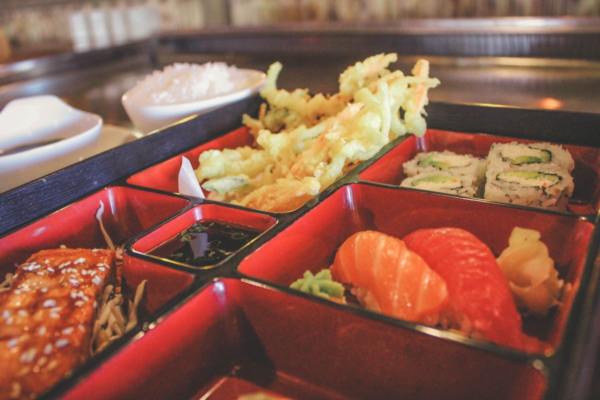 best lunch restaurants in Allen, Texas - former restaurant Inaka Teppanyaki, a bento box from a Japanese restaurant
