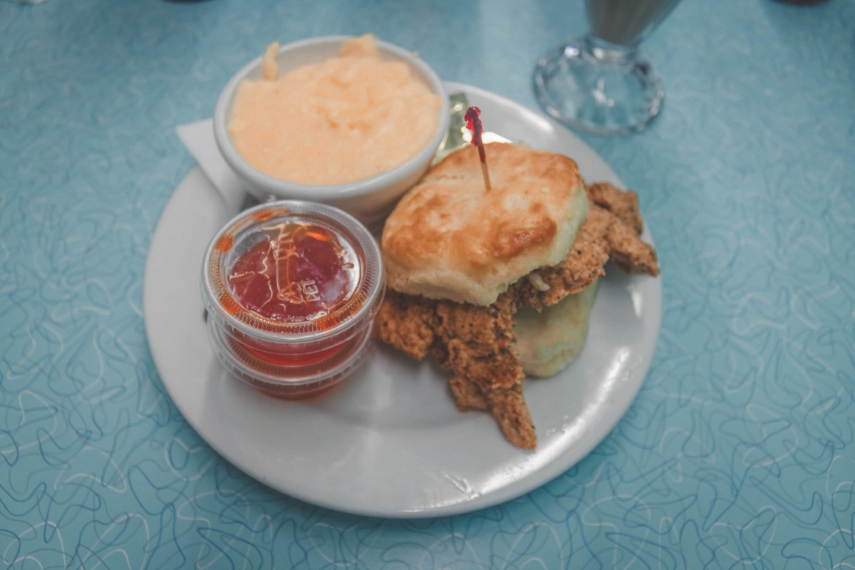 biscuit and grits from Brent's Drugs, one of the best restaurants in Jackson