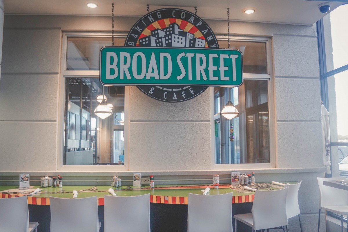 sign for Broad Street Cafe in Jackson