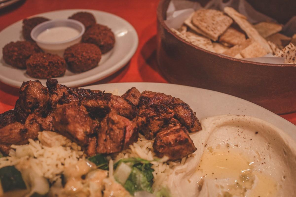 Mediterranean restaurant in Jackson - menu, platter, falafel, and pita