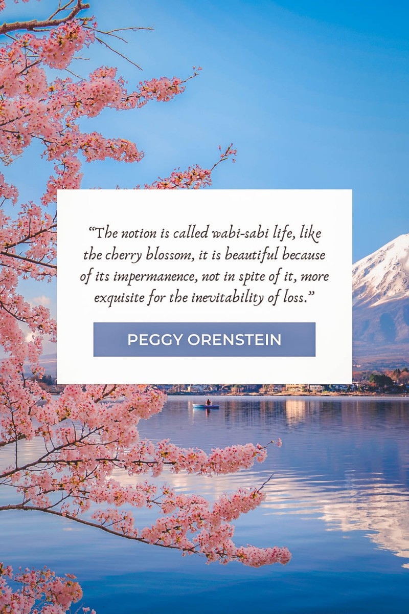 Cherry blossom quotes by Peggy Orenstein