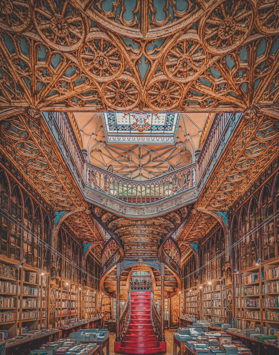 best bookstores in the world : Livraria Lello, Portugal