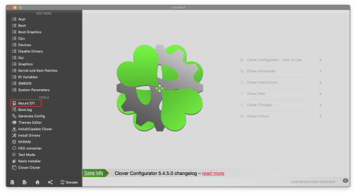 clover configurator hackintosh