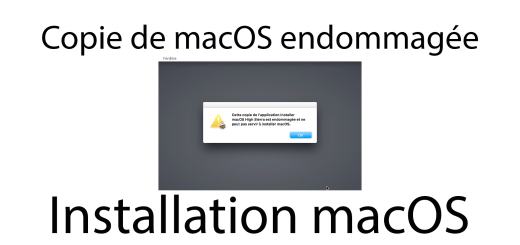 copie macos installer endommagée hackintosh