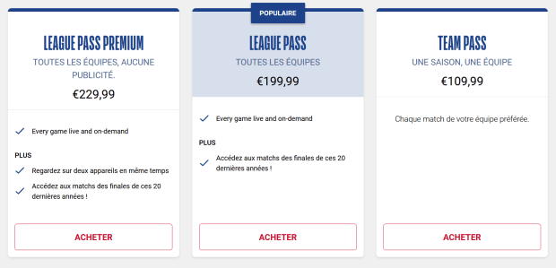 league pass france
