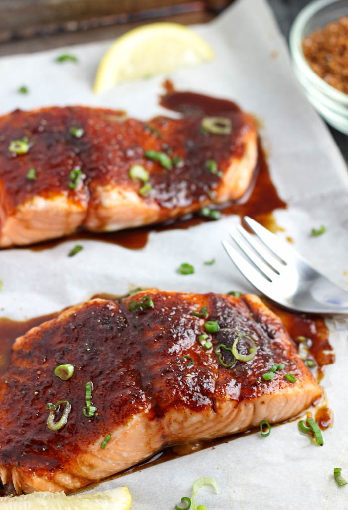 Roasted Salmon with Spiced Brown Sugar  Pass the Challah