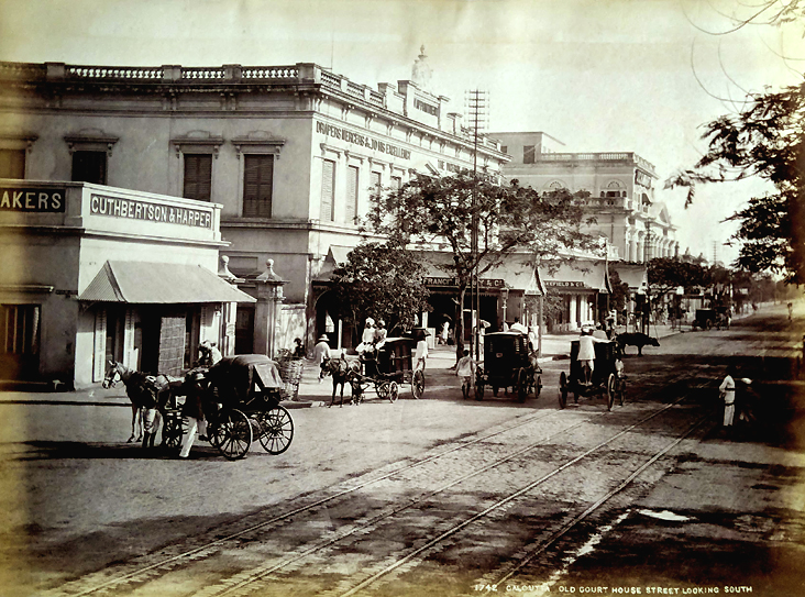 Antique Photo Calcutta Old Courthouse Street 1880