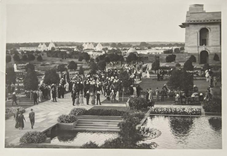 Vintage Photo Delhi Viceroy's House Garden Party