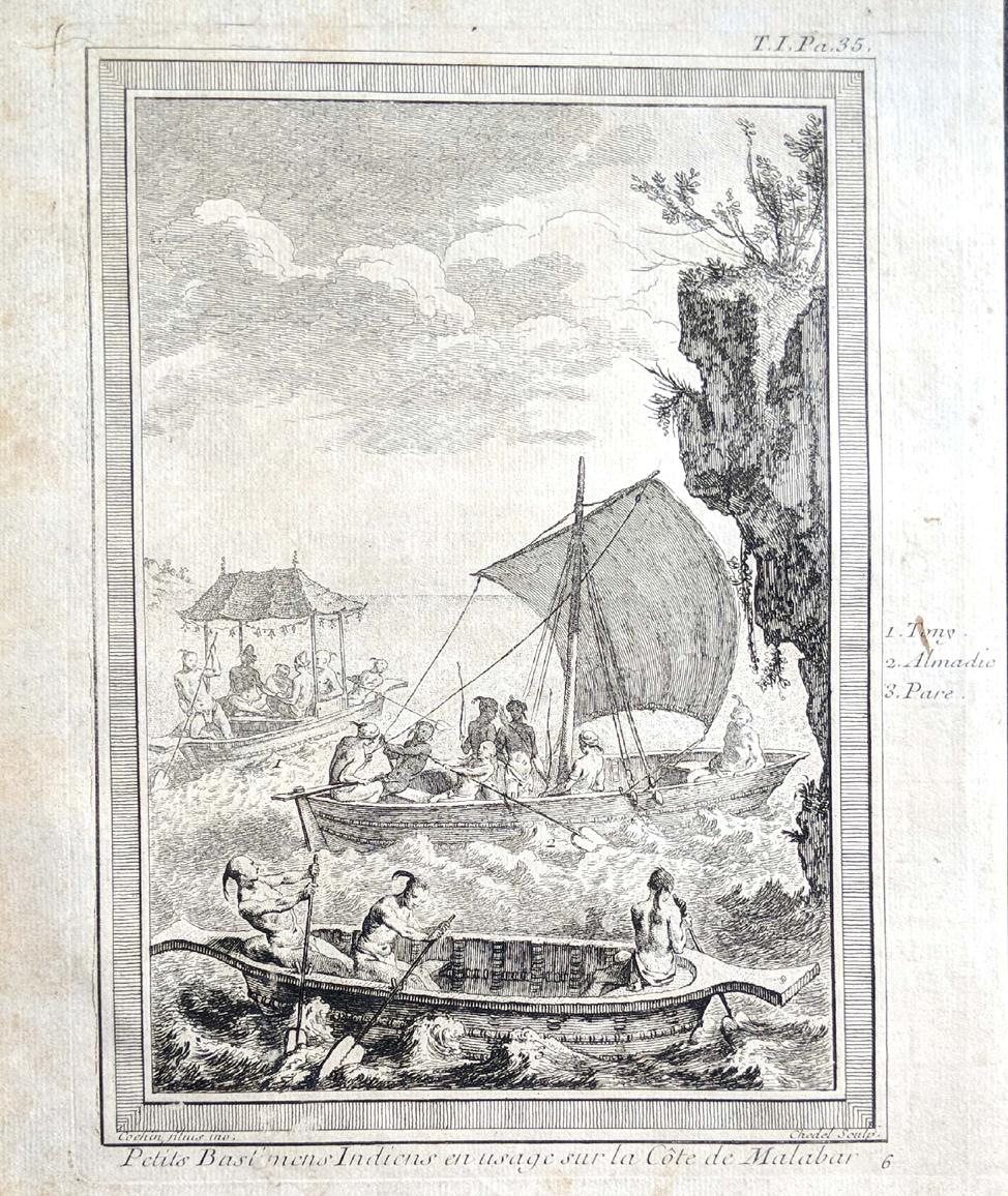 boats at malabar coast