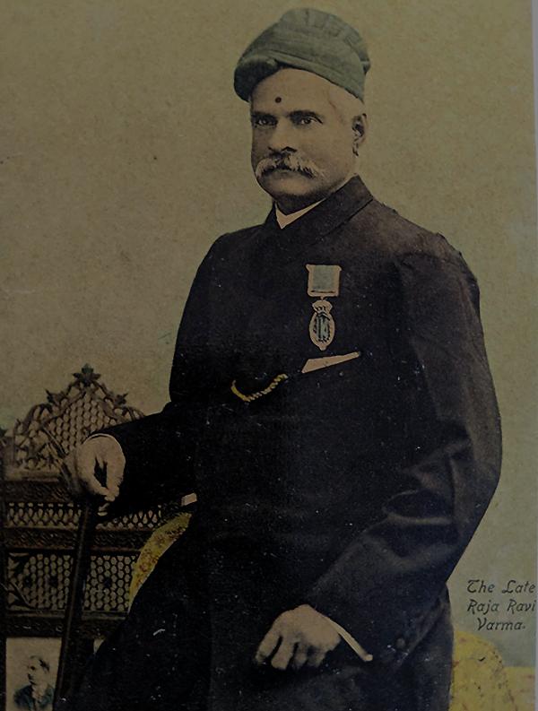 c1906 Photo Postcard Raja Ravi Varma Portrait
