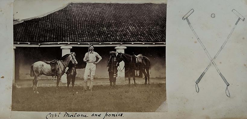 c1883 Photo British India Polo Player Capt Malone